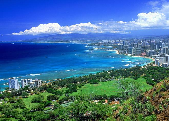 kurzy angličtiny, USA: Honolulu z vrchola krátera