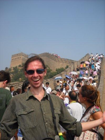 csillagász és kitünő asztrofotós Petr Horálek a kínai Nagy Falnál